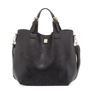 V Couture By Kooba Crysta Perforated Flower Tote